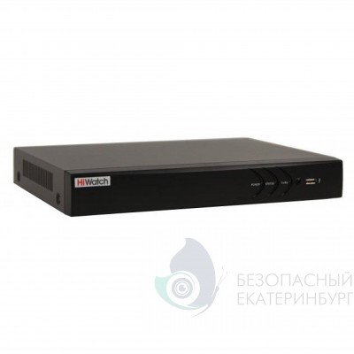 8-канальный гибридный HD-TVI регистратор HiWatch DS-H208UP